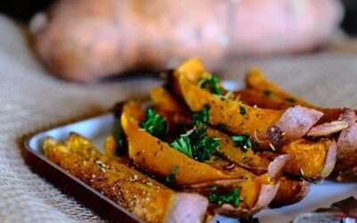Baked sweet potatoes with spices, a scandalous side dish
